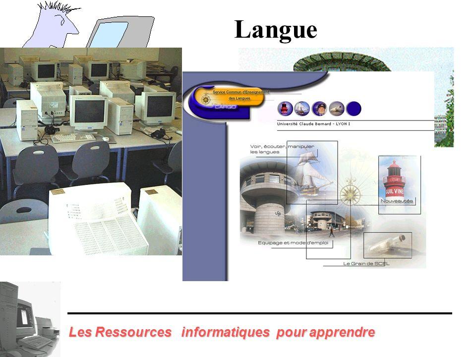 Langue Les Ressources informatiques pour apprendre