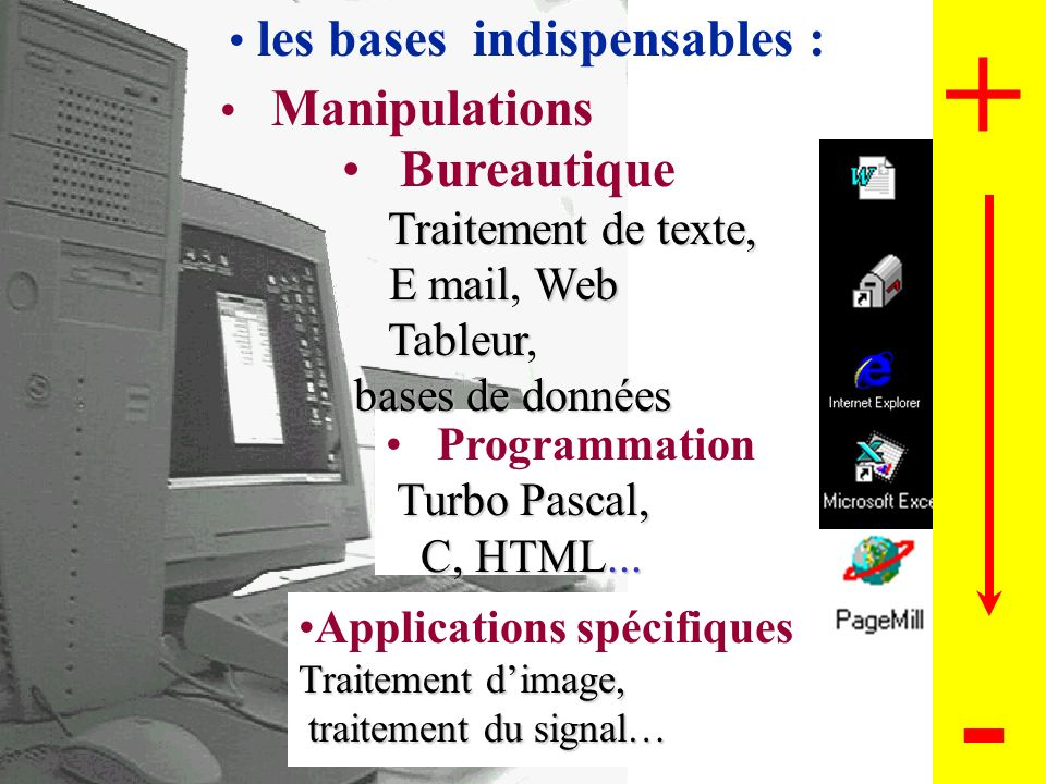 les bases indispensables :
