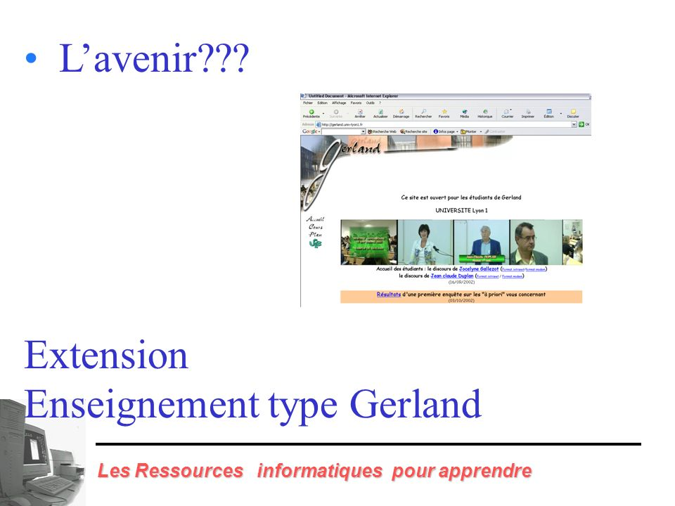 L'avenir Extension Enseignement type Gerland