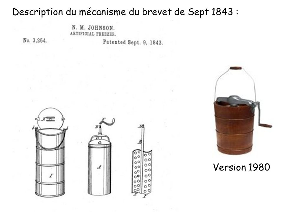 Description du mécanisme du brevet de Sept 1843 :