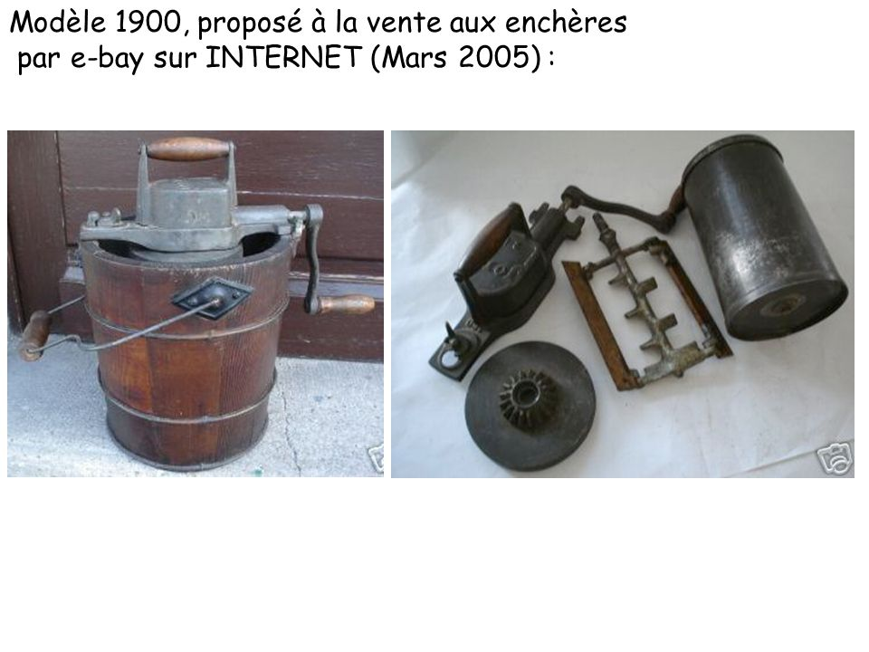 Modèle 1900, proposé à la vente aux enchères