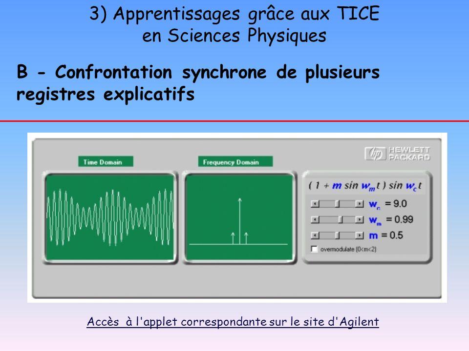 3) Apprentissages grâce aux TICE en Sciences Physiques