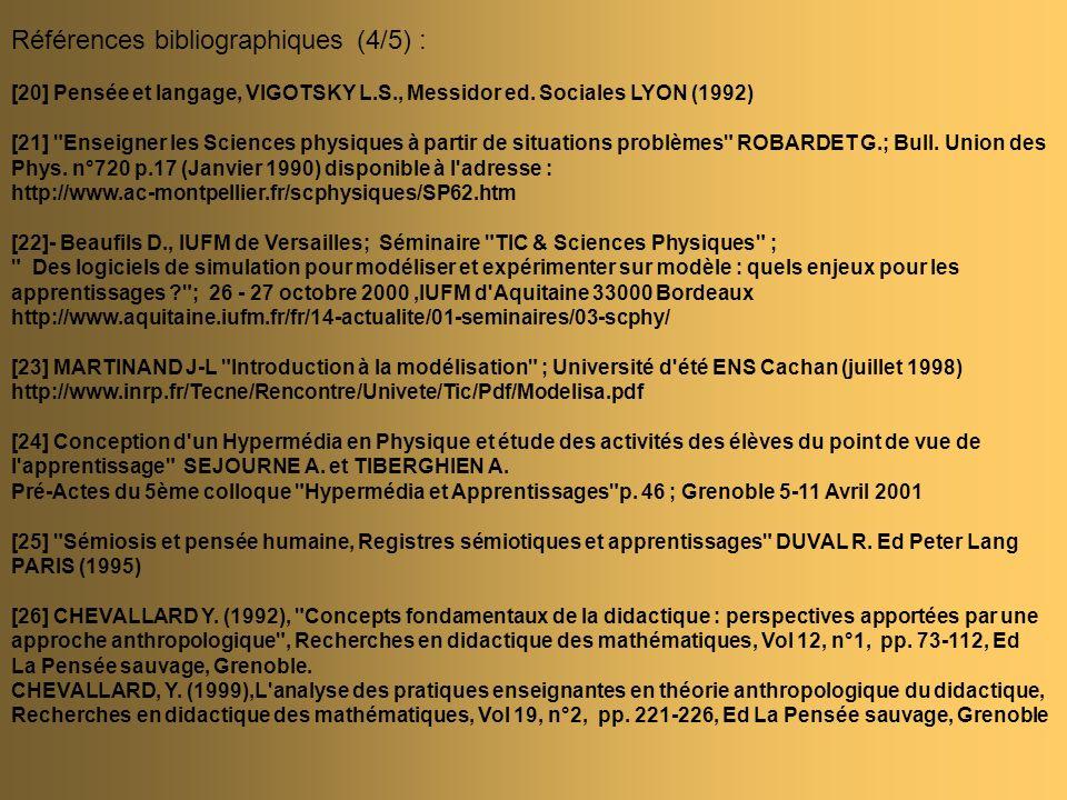 Références bibliographiques (4/5) :