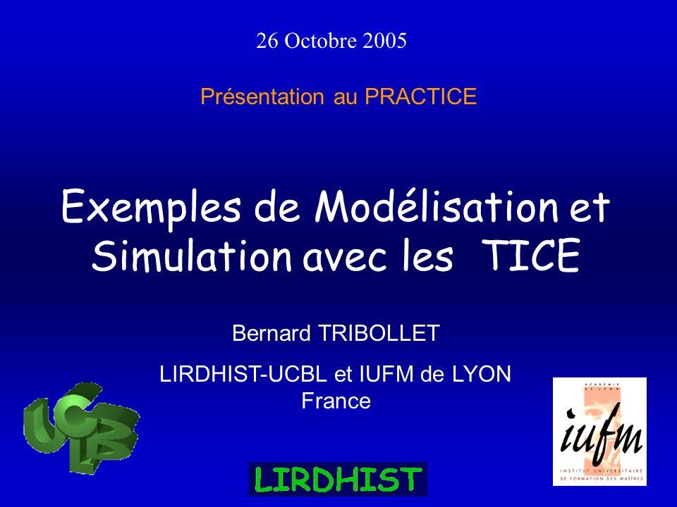 Exemples de Modélisation et Simulation avec les TICE