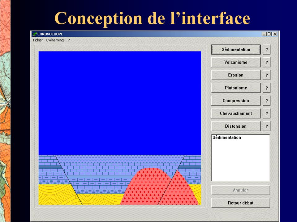 Conception de l'interface