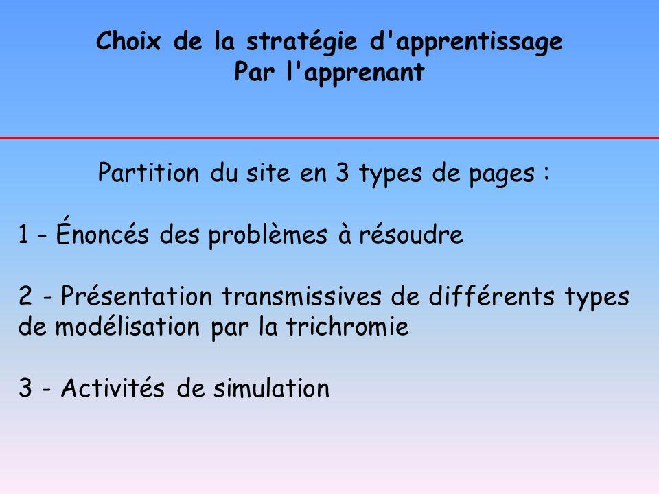 Choix de la stratégie d apprentissage