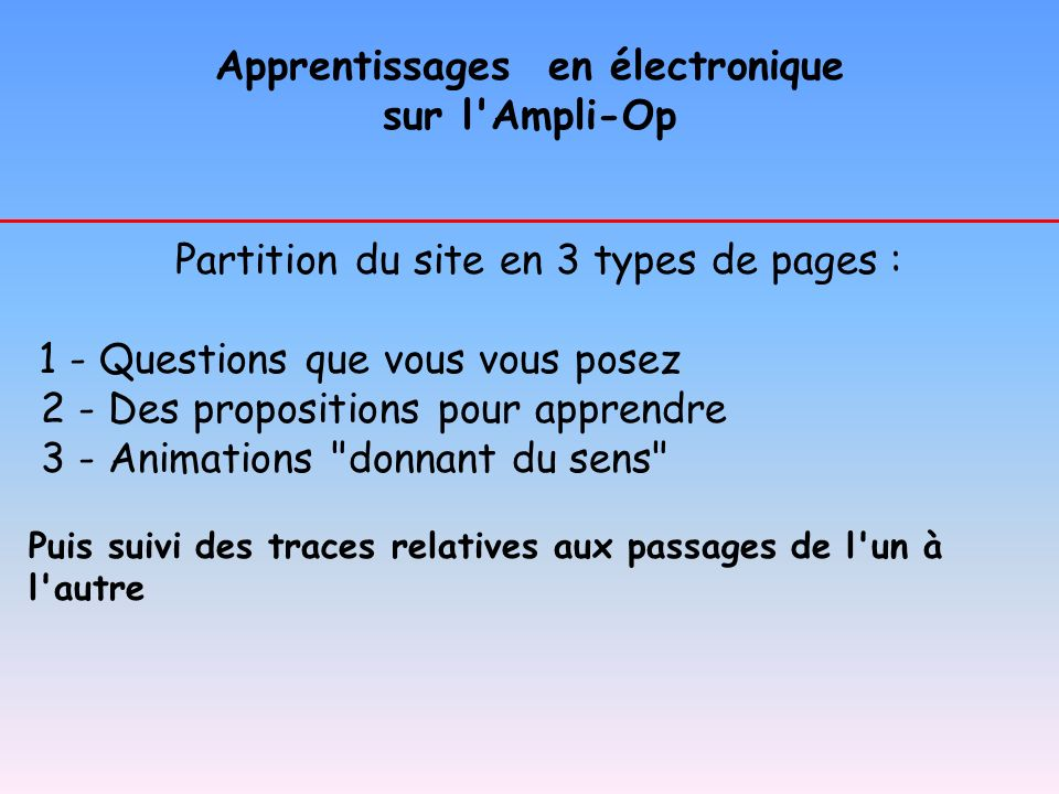 Apprentissages en électronique