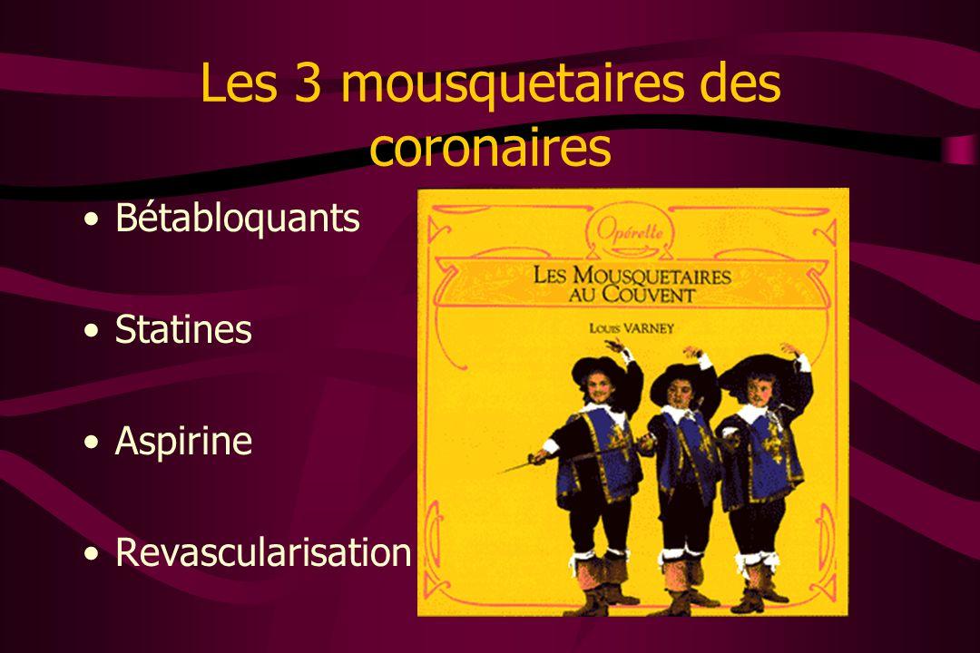 Les 3 mousquetaires des coronaires