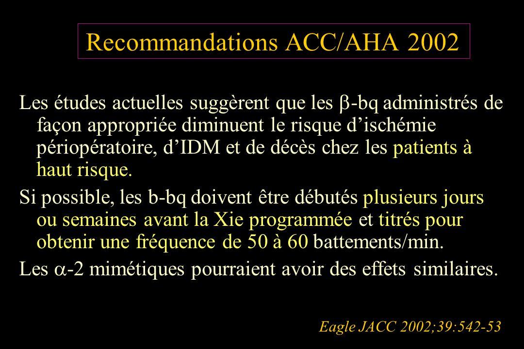 Recommandations ACC/AHA 2002