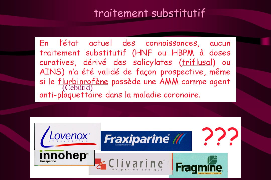 traitement substitutif