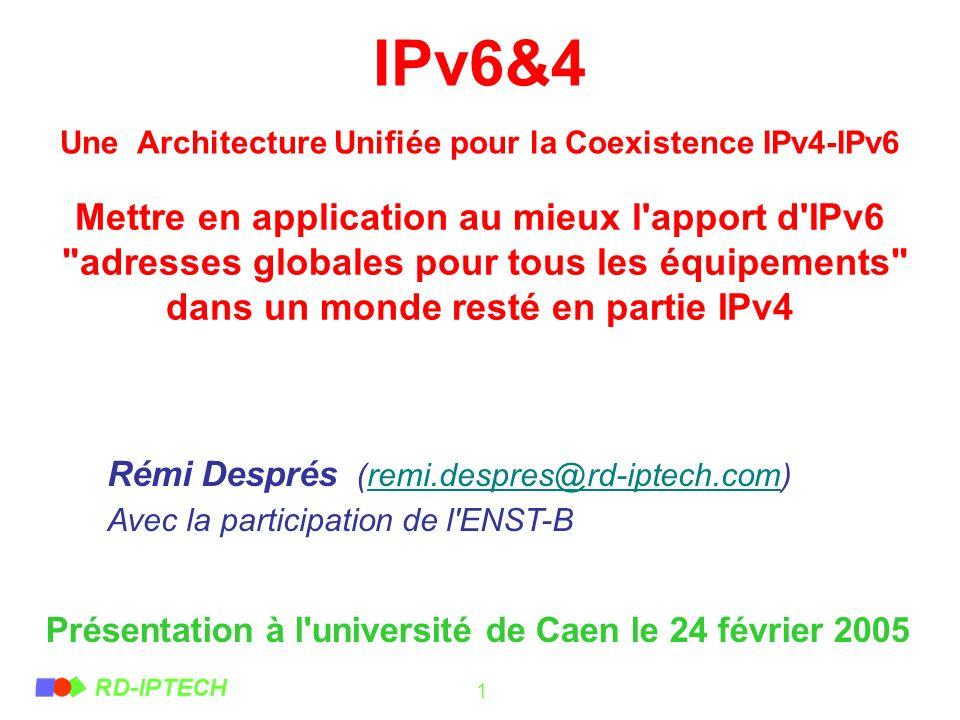 IPv6&4 Une Architecture Unifiée pour la Coexistence IPv4-IPv6