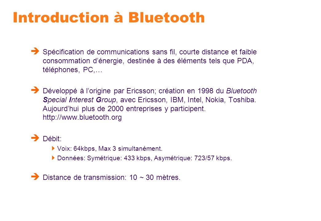 Introduction à Bluetooth