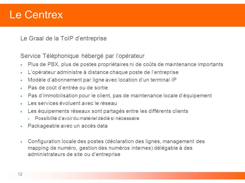 Le Centrex Le Graal de la ToIP d'entreprise