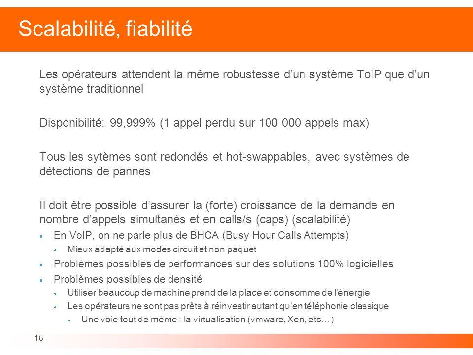 Scalabilité, fiabilité