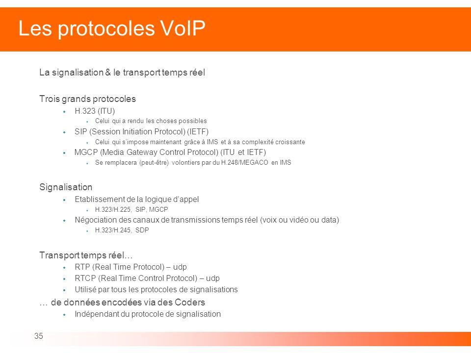 Les protocoles VoIP La signalisation & le transport temps réel