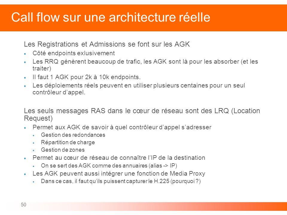 Call flow sur une architecture réelle