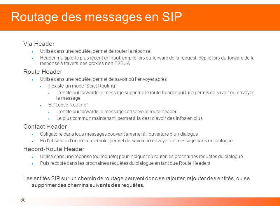 Routage des messages en SIP
