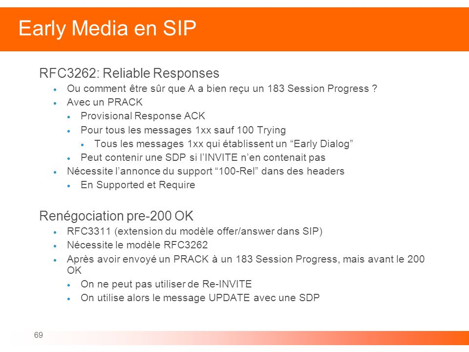 Early Media en SIP RFC3262: Reliable Responses