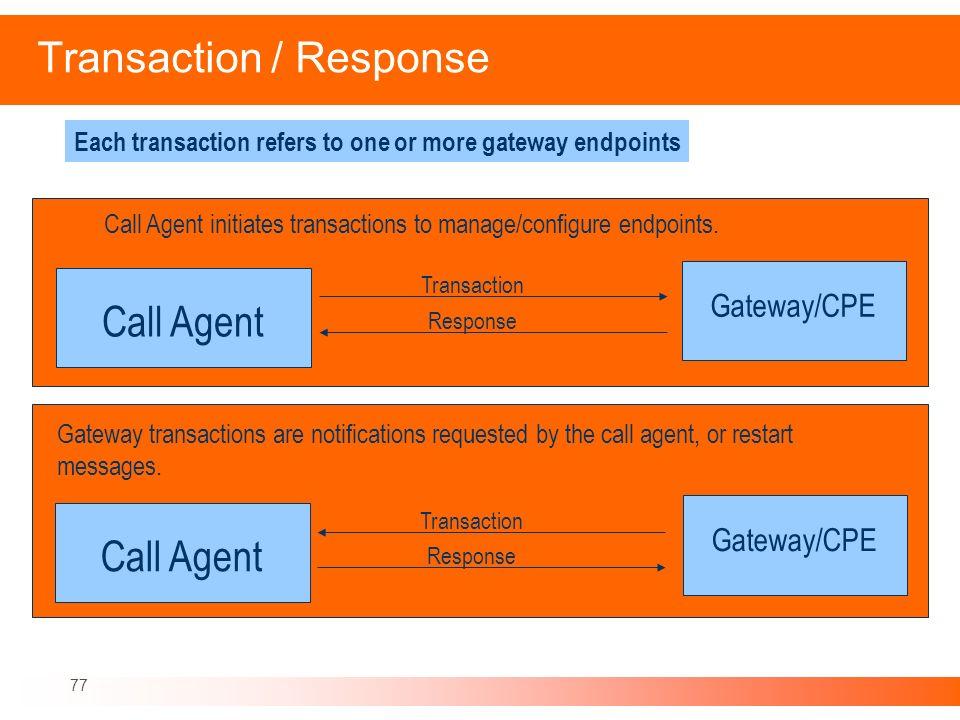 Transaction / Response