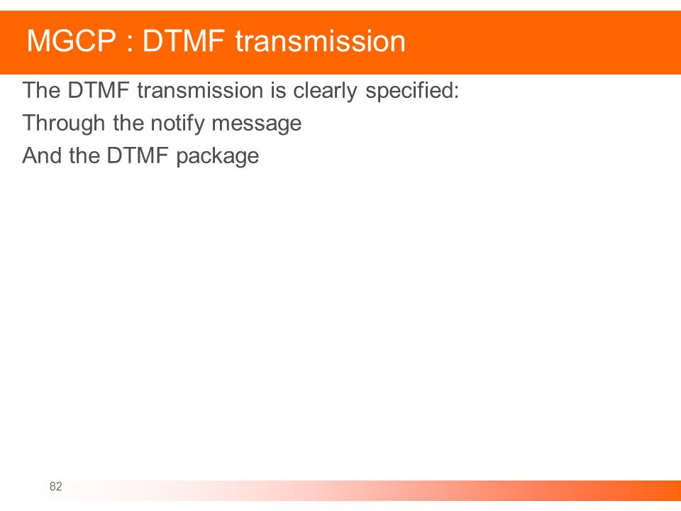 MGCP : DTMF transmission