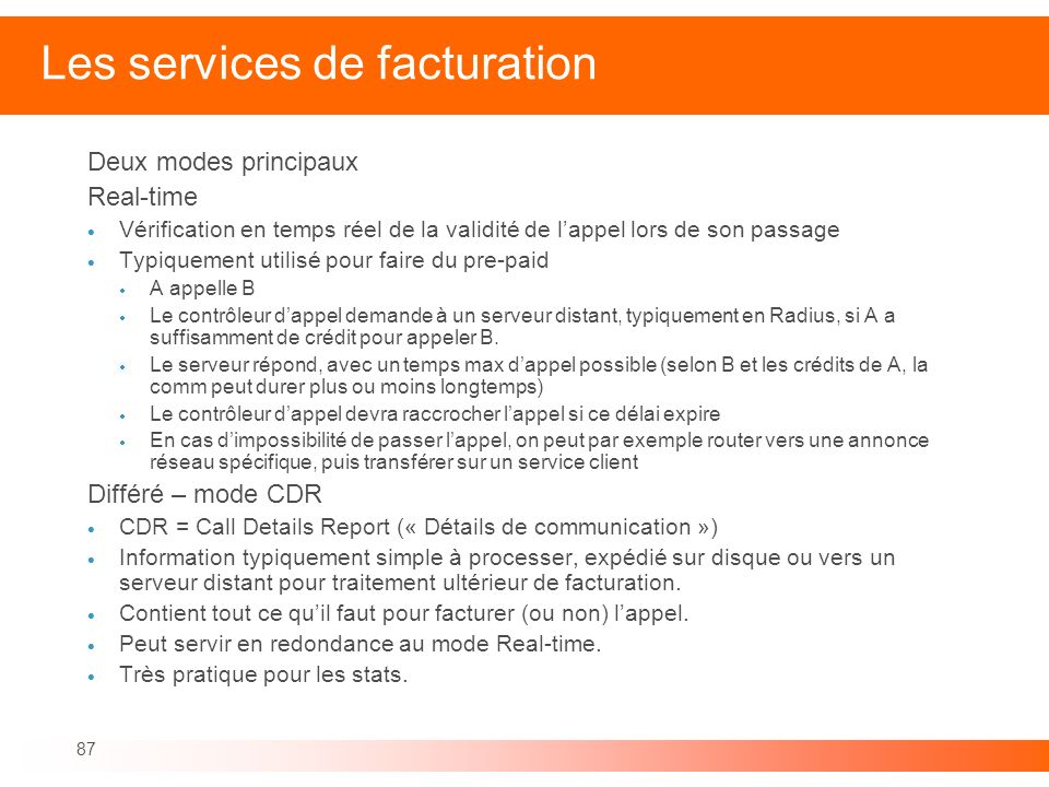 Les services de facturation