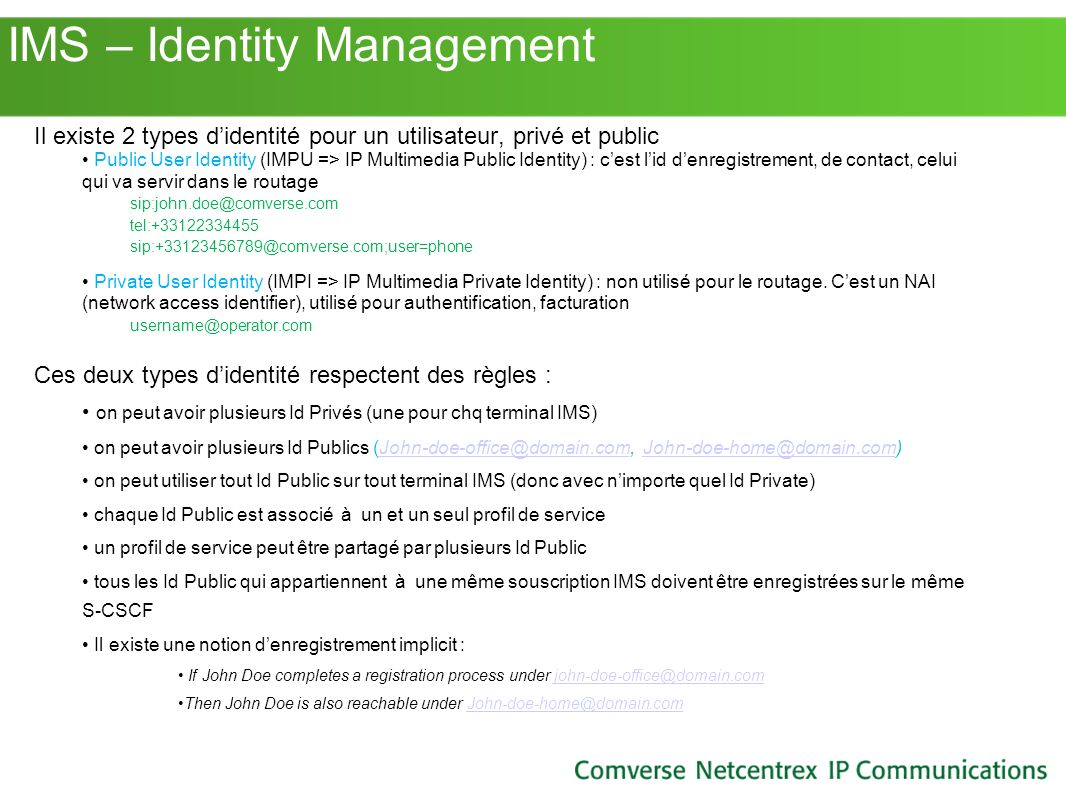 IMS – Identity Management