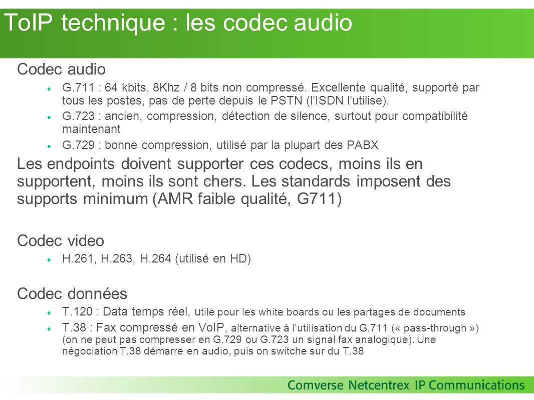 ToIP technique : les codec audio