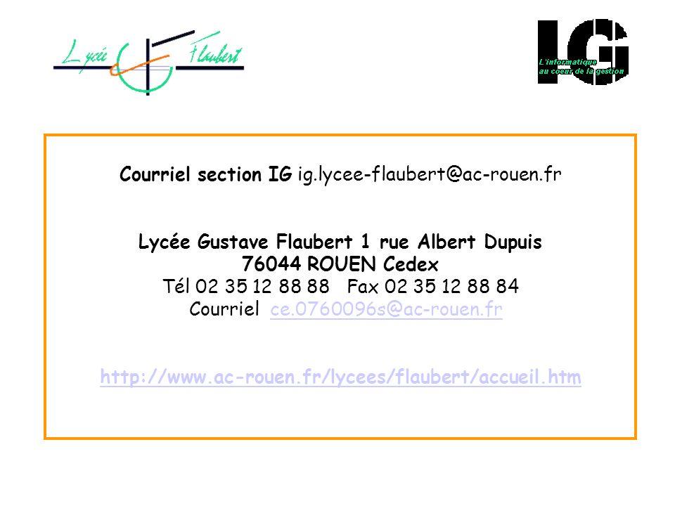 Courriel section IG ig. lycee-flaubert@ac-rouen