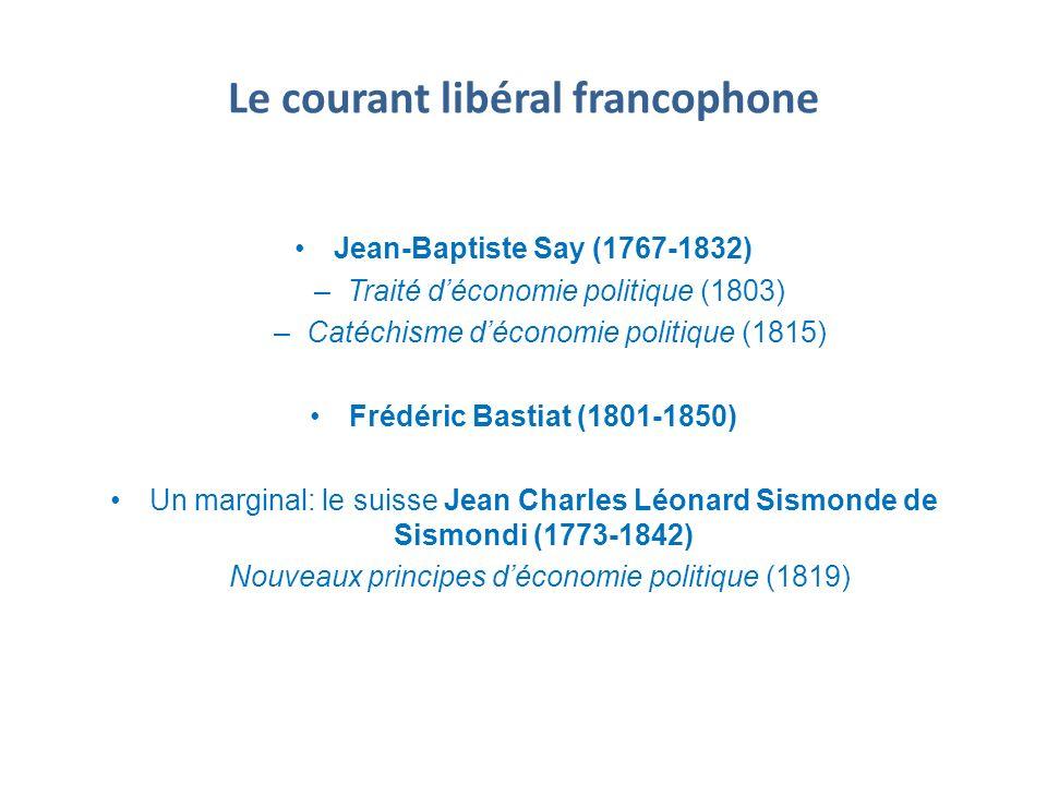 Le courant libéral francophone