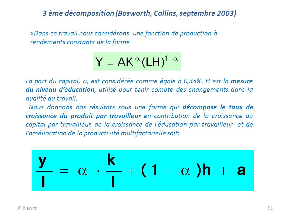 3 ème décomposition (Bosworth, Collins, septembre 2003)