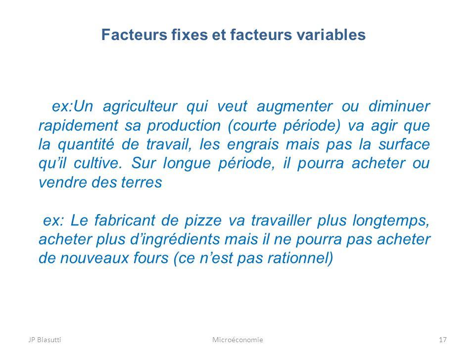 Facteurs fixes et facteurs variables