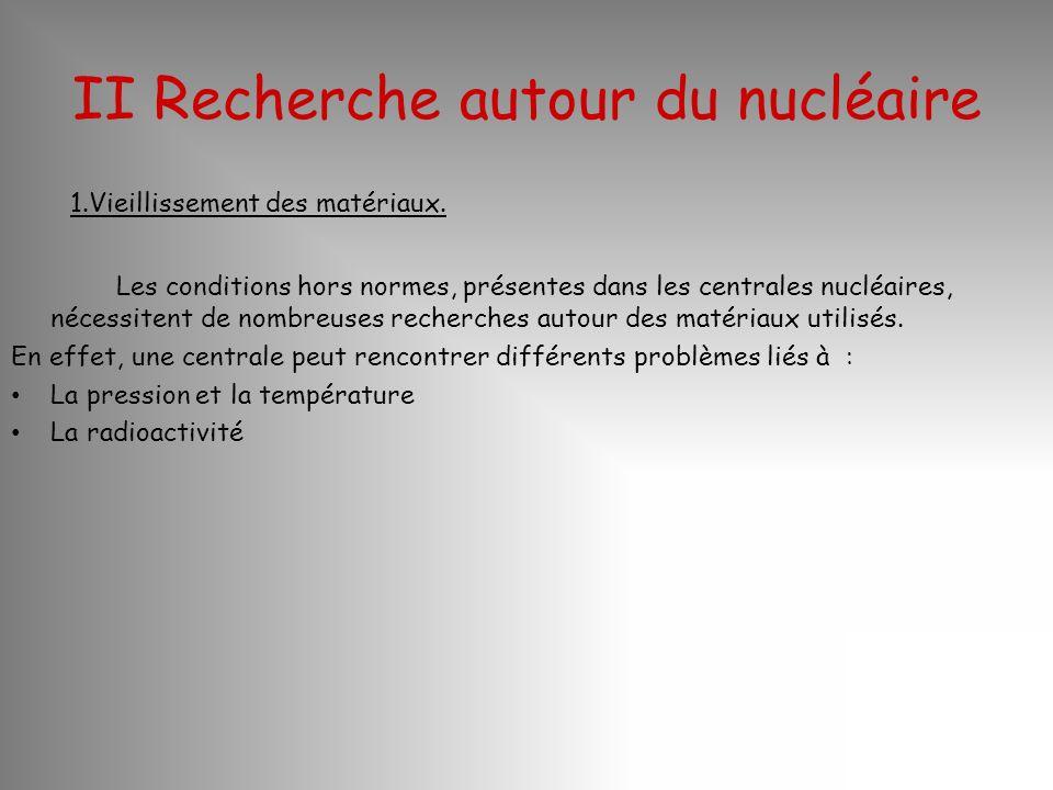 II Recherche autour du nucléaire