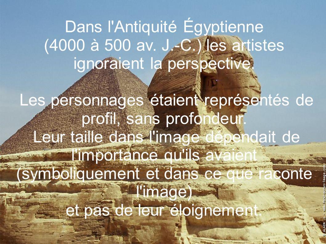 Dans l Antiquité Égyptienne
