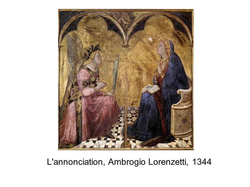 L annonciation, Ambrogio Lorenzetti, 1344