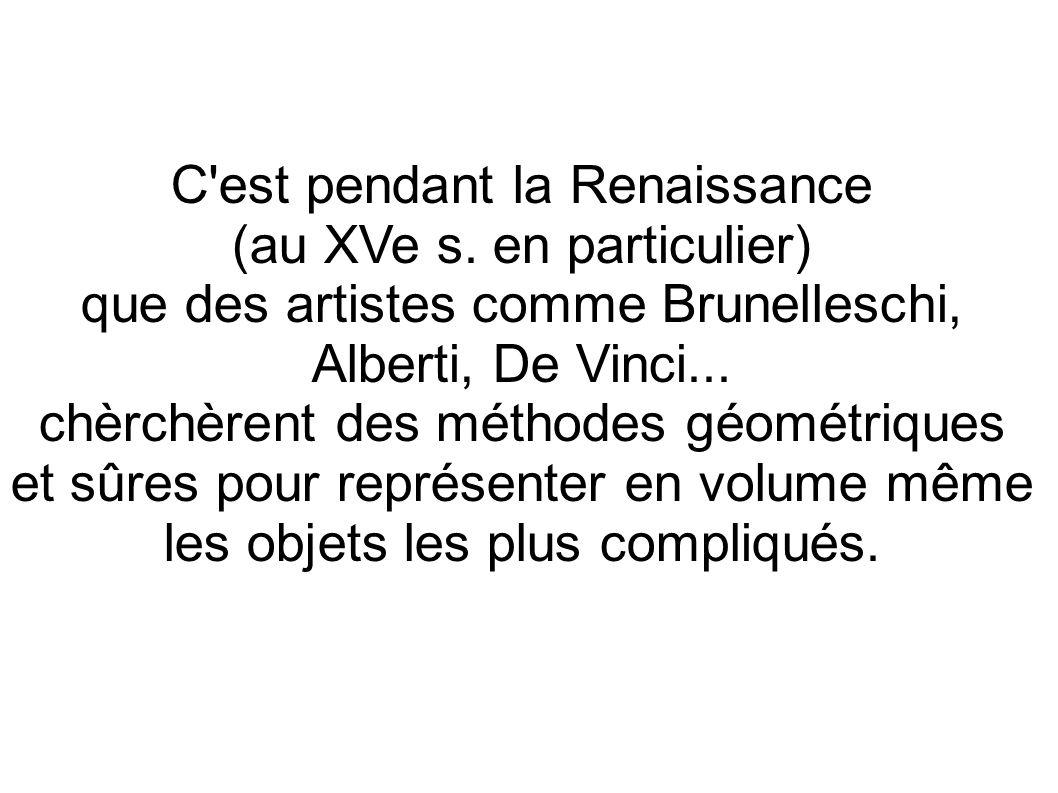 C est pendant la Renaissance (au XVe s. en particulier)