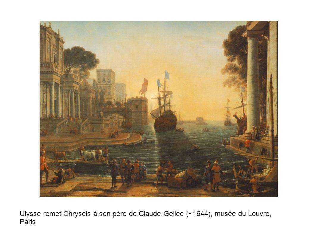 Ulysse remet Chryséis à son père de Claude Gellée (~1644), musée du Louvre, Paris