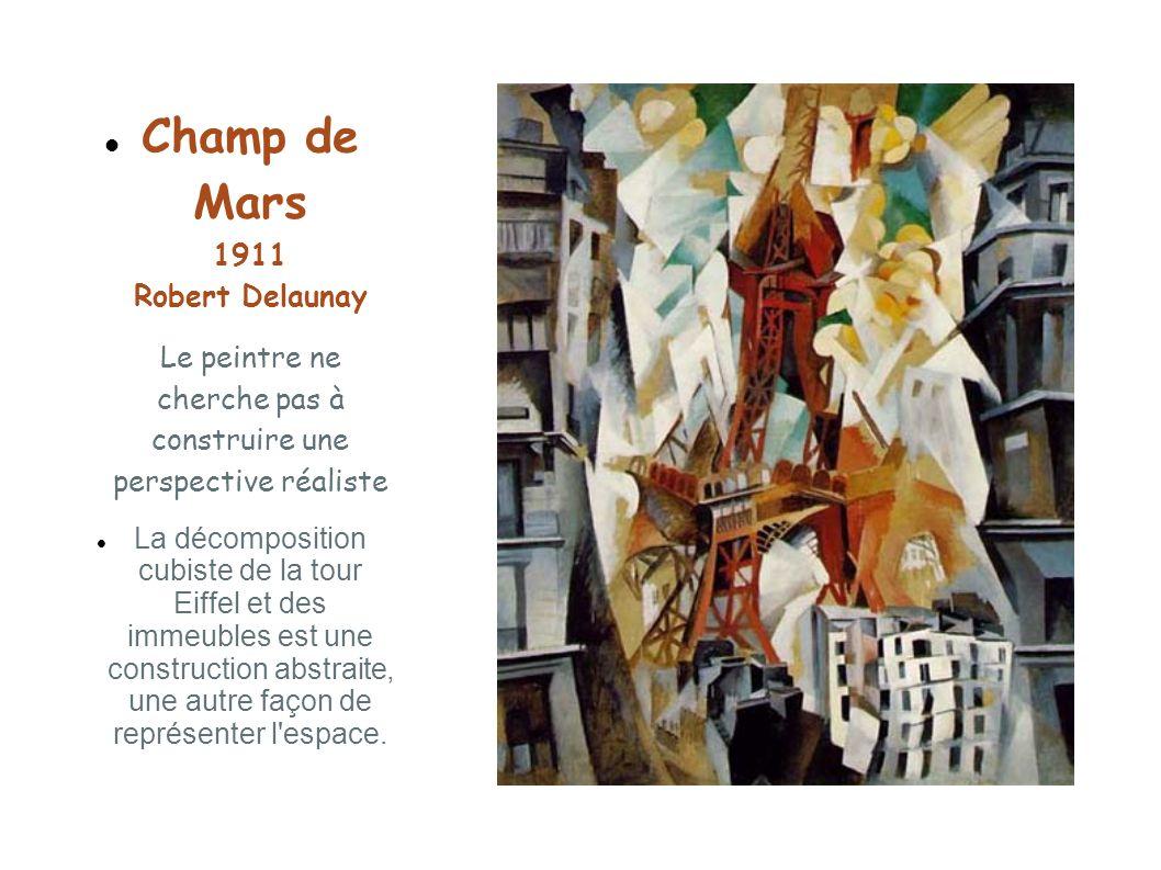 Champ de Mars 1911 Robert Delaunay Le peintre ne cherche pas à construire une perspective réaliste
