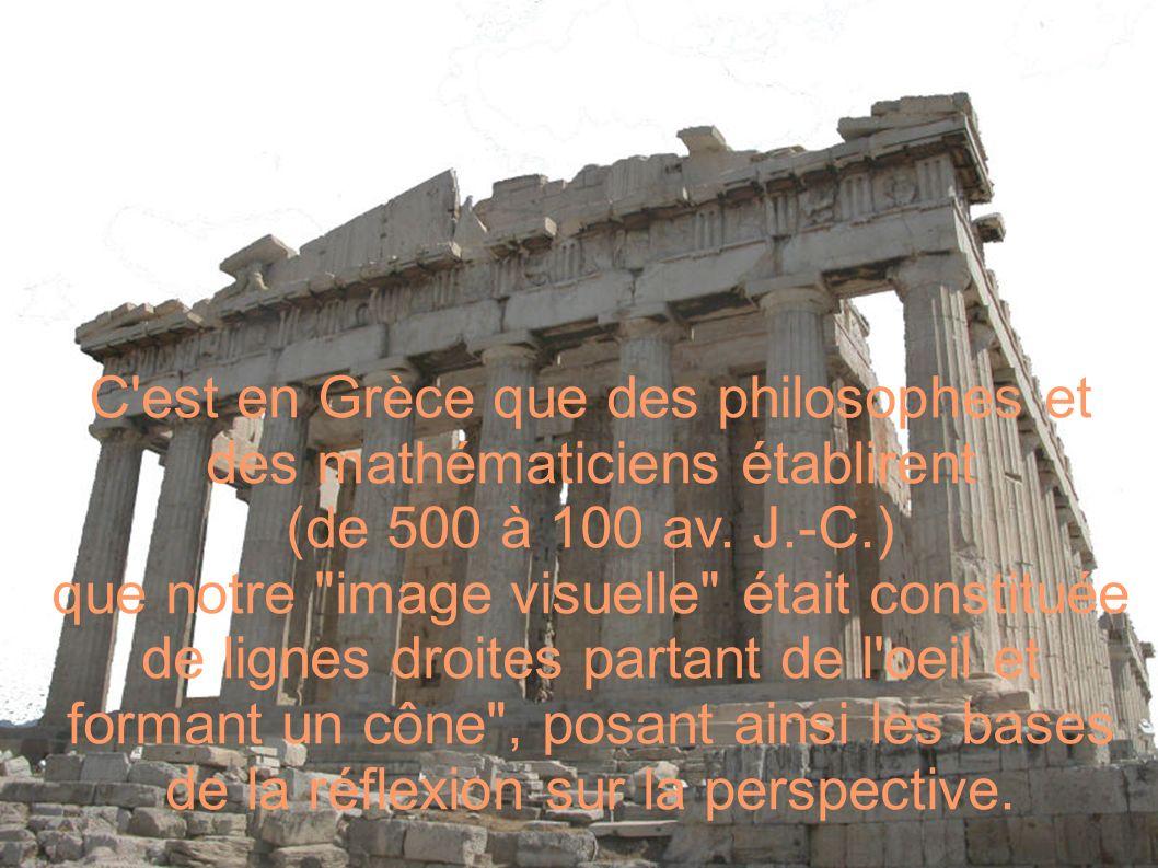 C est en Grèce que des philosophes et des mathématiciens établirent