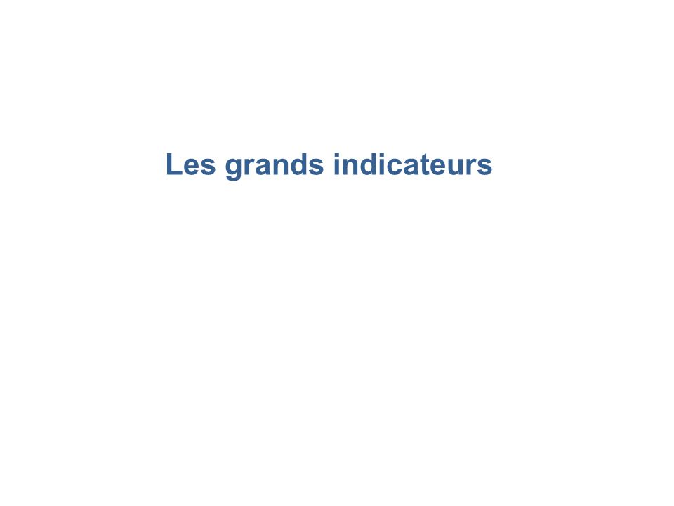 Les grands indicateurs