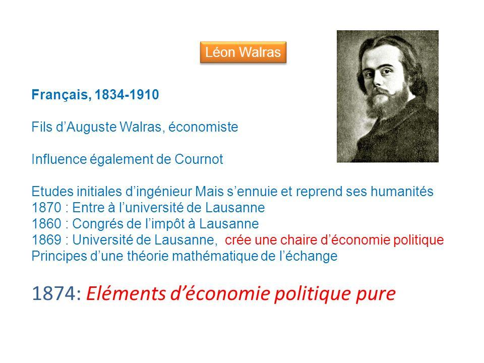 1874: Eléments d'économie politique pure
