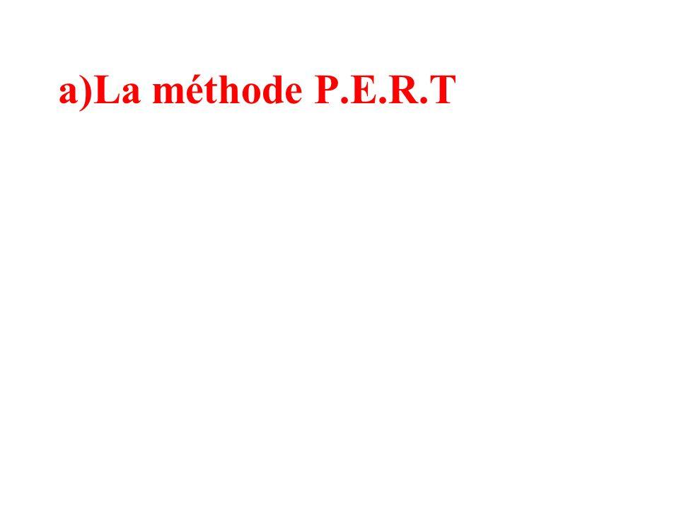 a)La méthode P.E.R.T