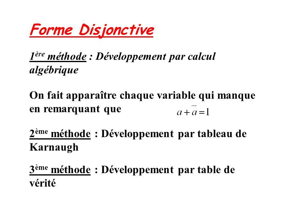 1ère méthode : Développement par calcul algébrique