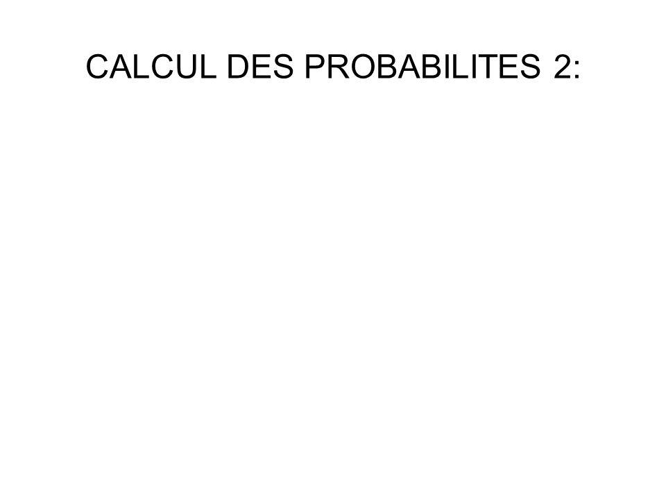 CALCUL DES PROBABILITES 2: