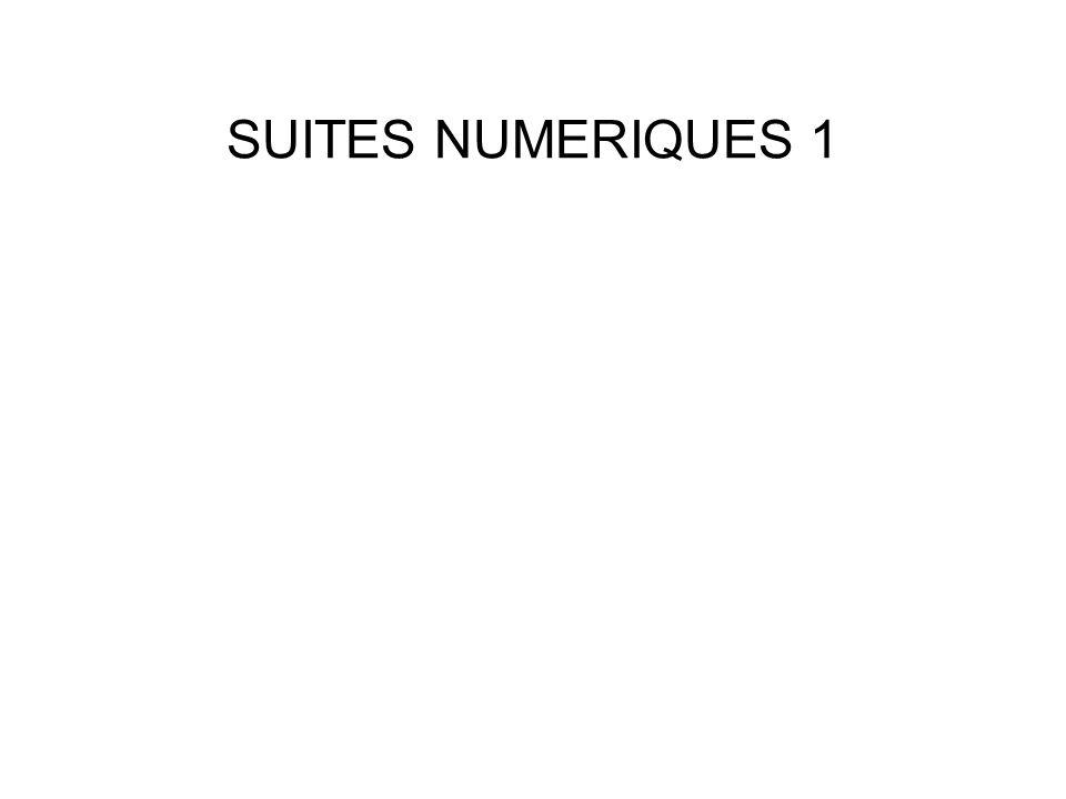 SUITES NUMERIQUES 1