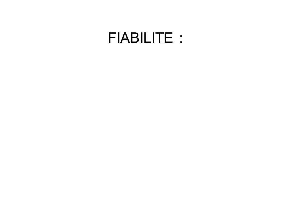 FIABILITE :