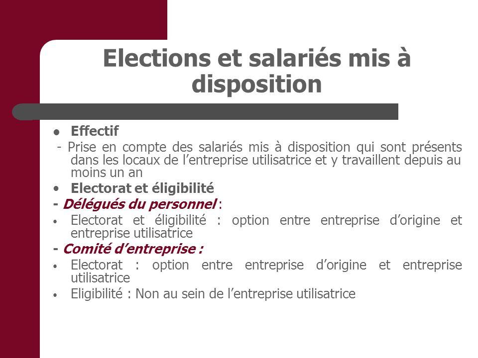 Elections et salariés mis à disposition