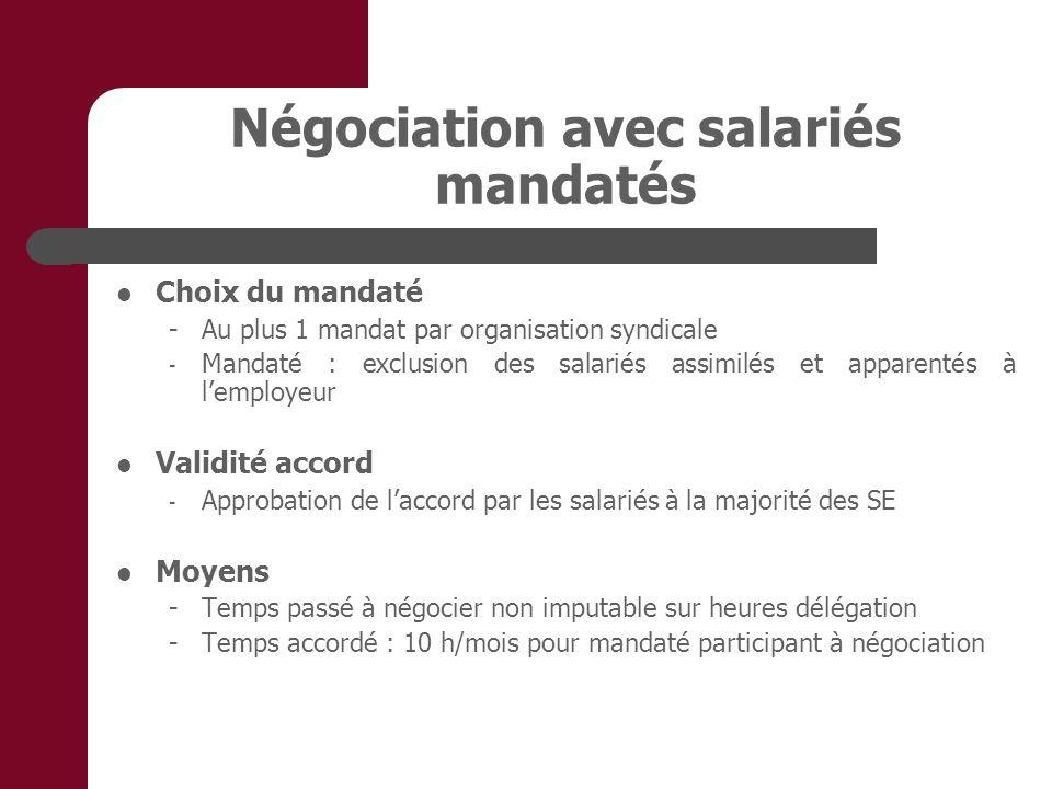 Négociation avec salariés mandatés