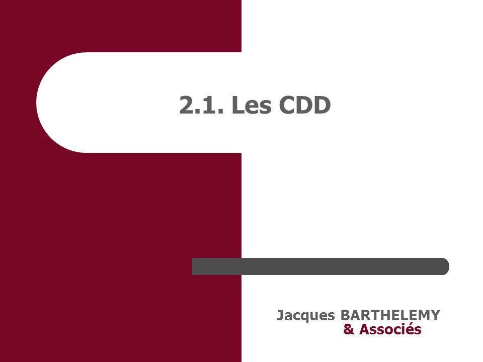 2.1. Les CDD