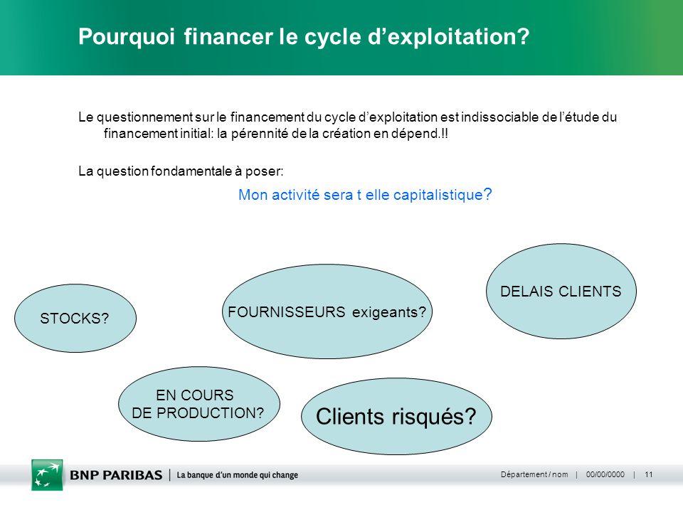 Pourquoi financer le cycle d'exploitation