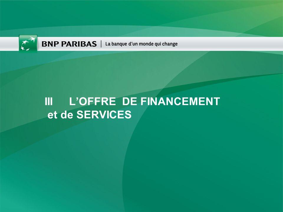 III L'OFFRE DE FINANCEMENT et de SERVICES